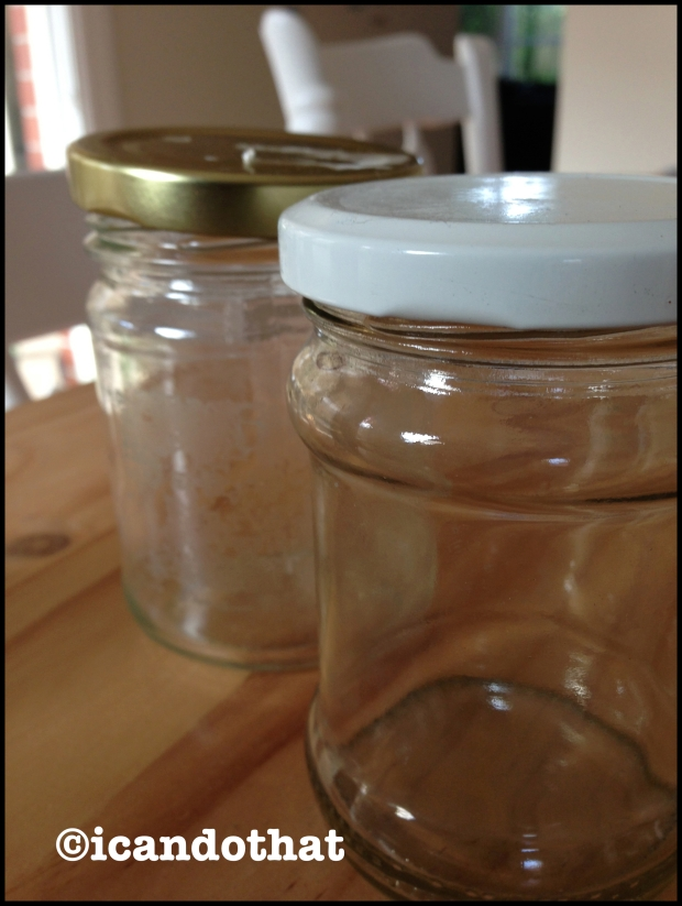 Jars, soon to be soap dispensers