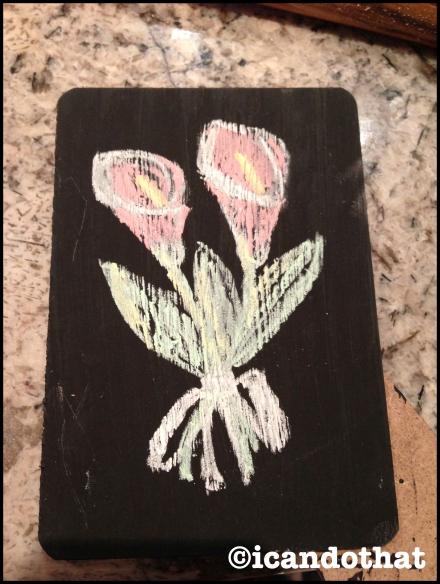 Provincial chalkboard frame