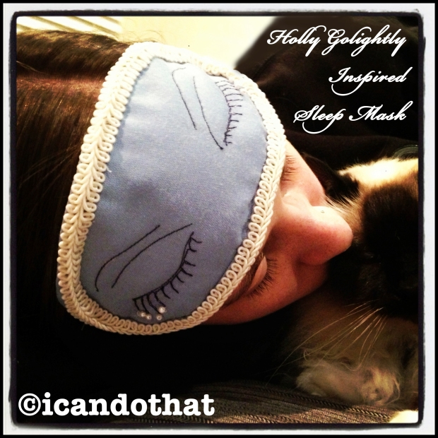 Holly Golightly Inspired Sleep Mask
