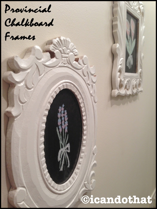 Provincial Chalkboard Frames