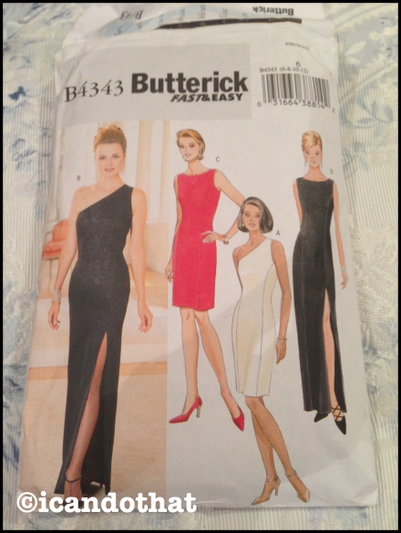 Butterick Pattern Black Dress