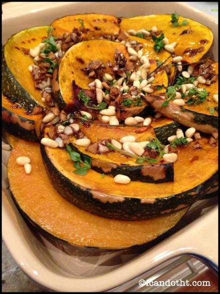 Jap pumpkin and pine nut salad