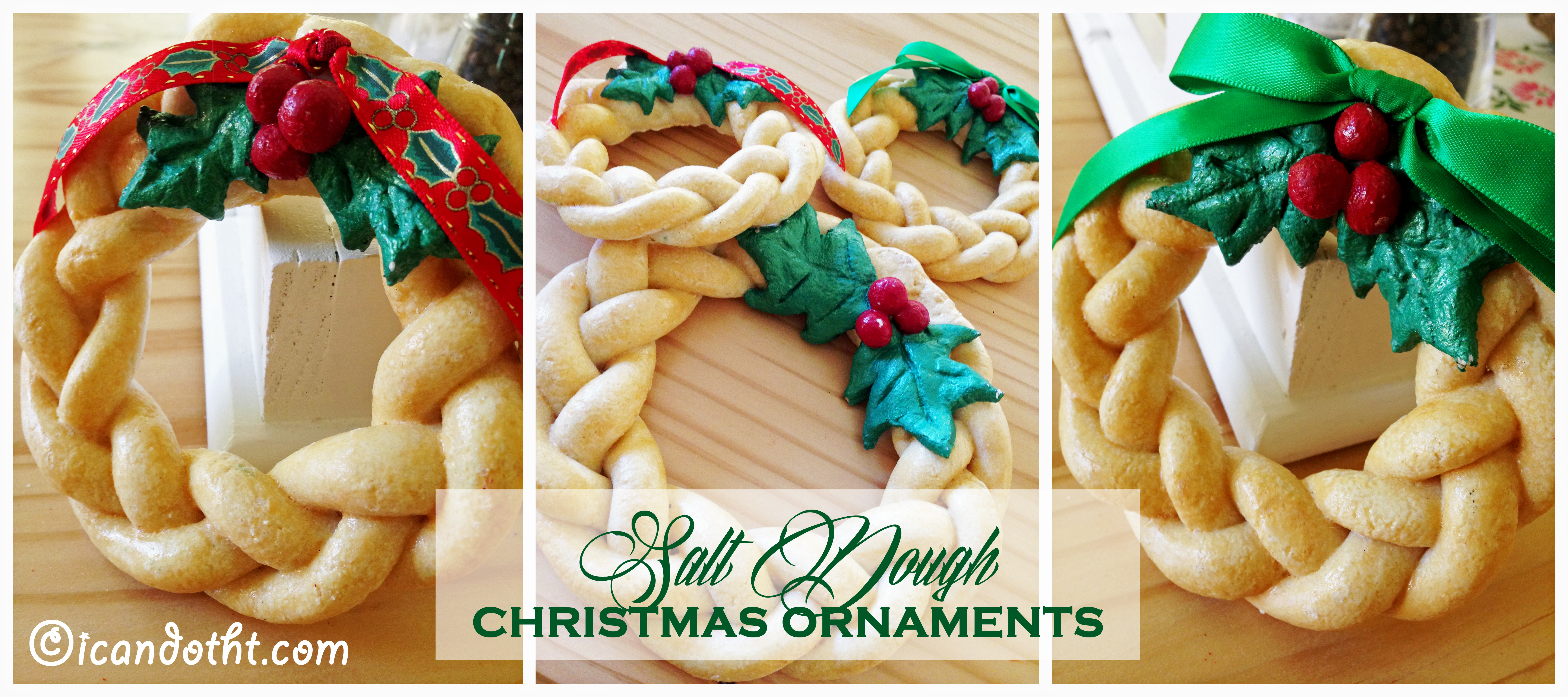 How to make christmas ornaments with dough thedruge