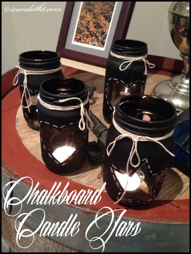 Chalkboard candle jars