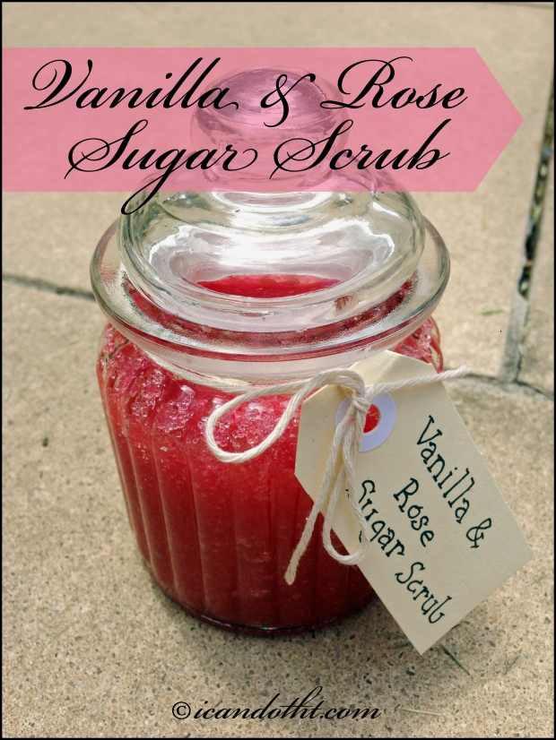 Vanilla and Rose Sugar Scrub