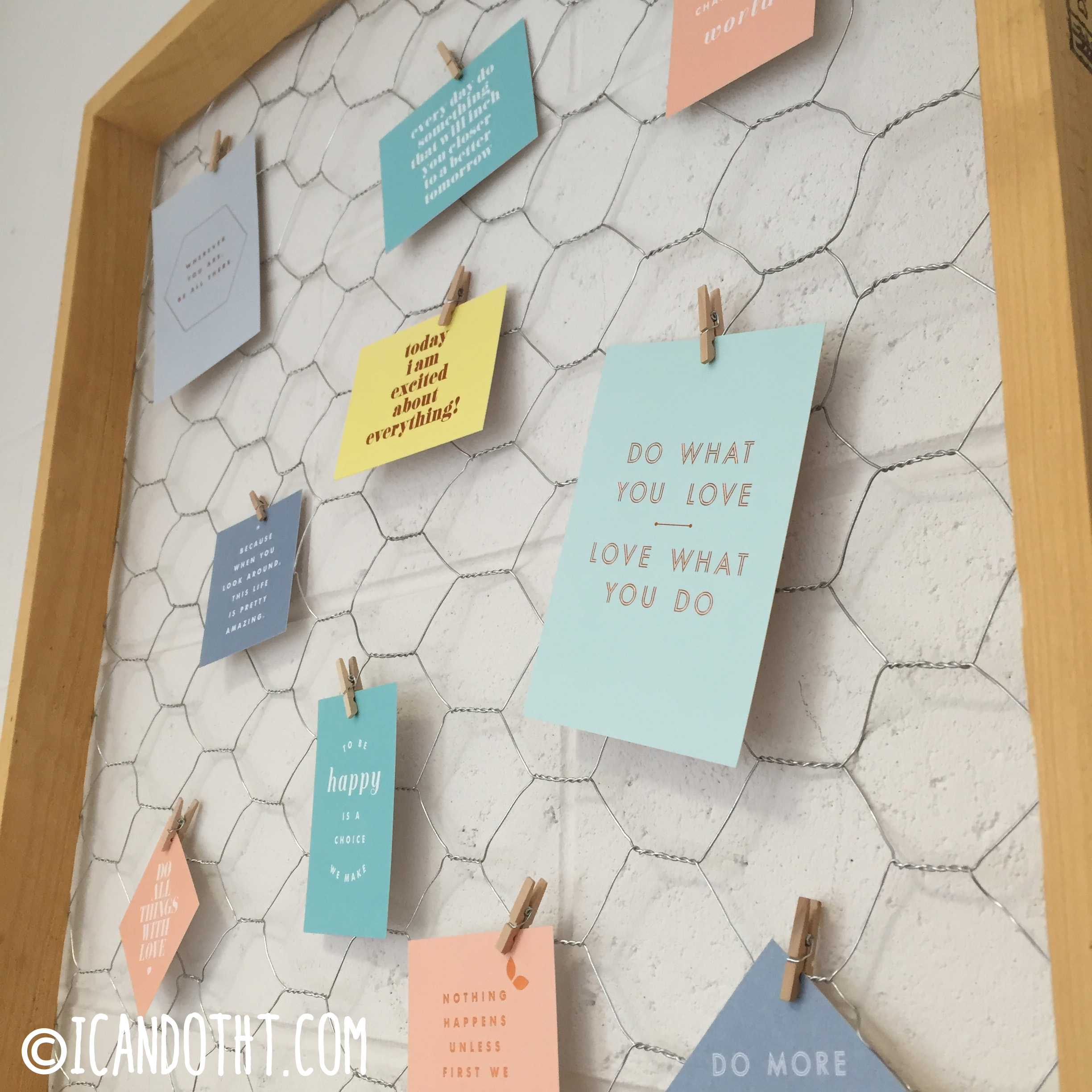 D.I.Y. Rustic Noteboard – I can do that!