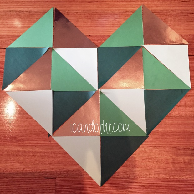Paper Heart Layout