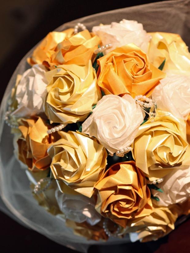 DIY Wedding bouquet origami