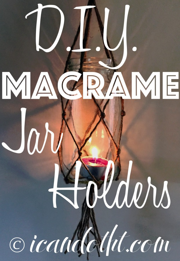 DIY Macrame jar holders