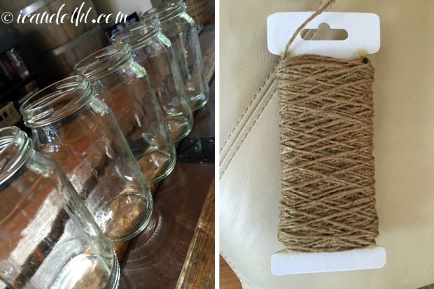 Macrame jar holder supplies