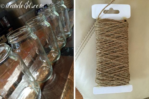 Macrame jar holder supplies