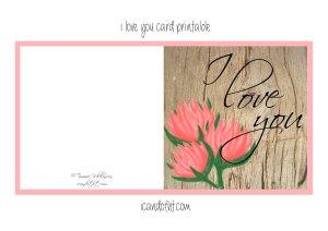 I love you card free printable