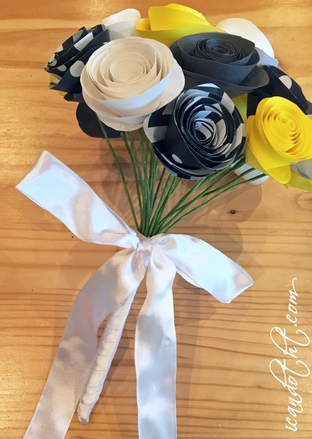 Paper wedding bouquet flowers