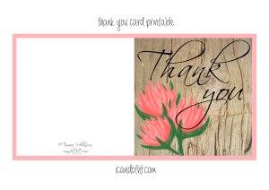 Thank you card free printable
