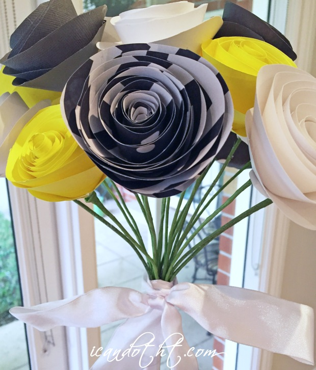 Wedding bouquet paper flowers