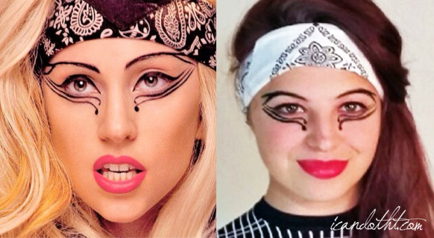 lady gaga judas makeup comparison