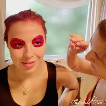 Lady gaga red makeup