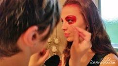 Lady gaga red makeup5