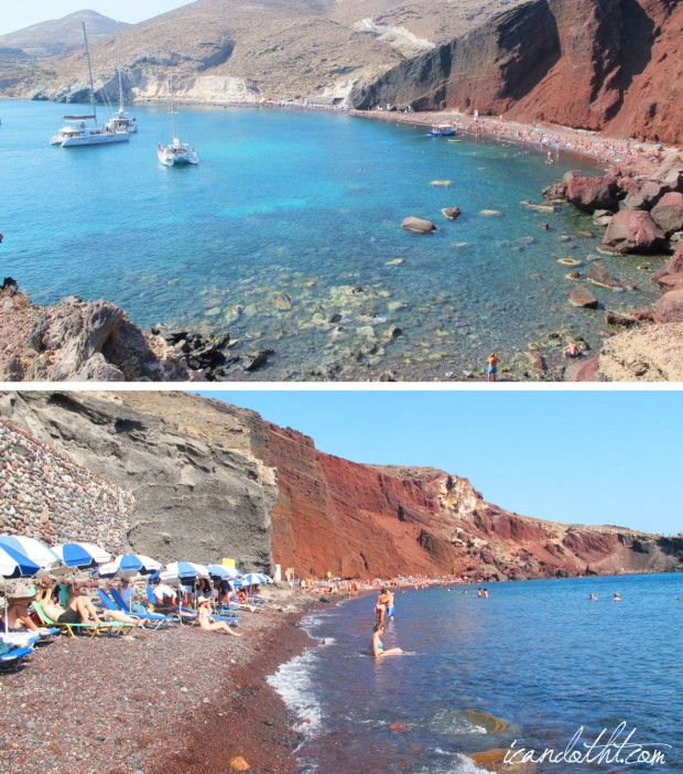 santorini-red-beach